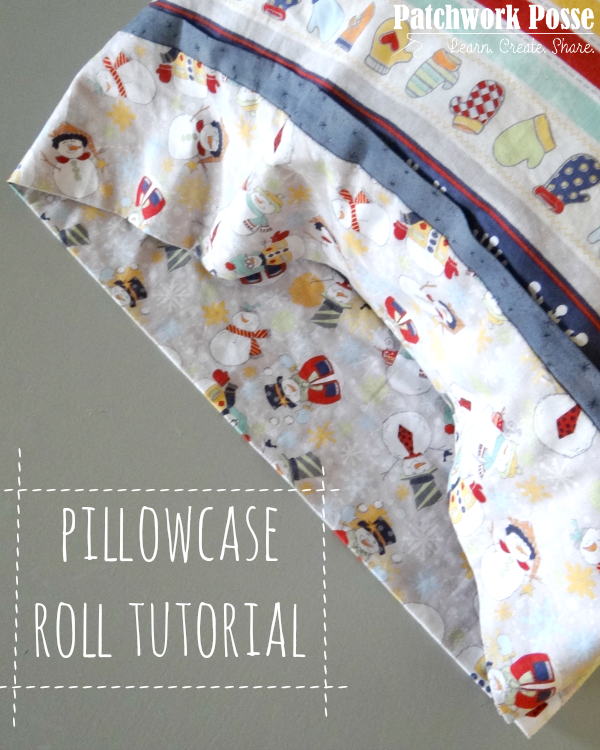 pillowcase roll tutorial with cuff and trim