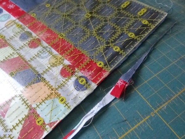 trim after stitching the seam