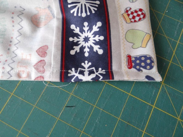 turn right sides in and stitch along seam