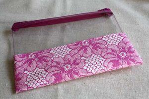 clear zipper pouch