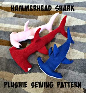 hammerhead shark plushie tutorial