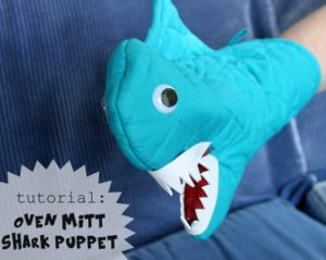 shark oven mitt tutorial
