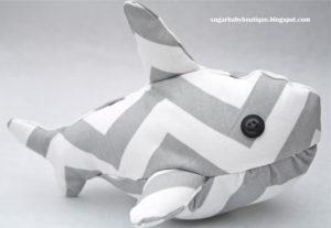 shark stuffed animal tutorial