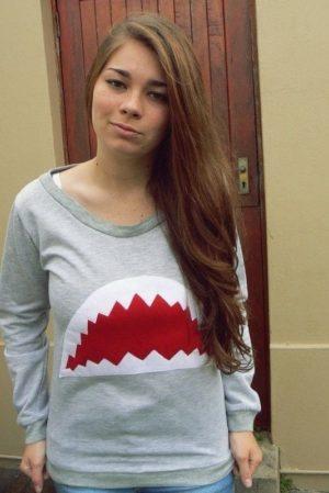 shark sweatshirt tutorial