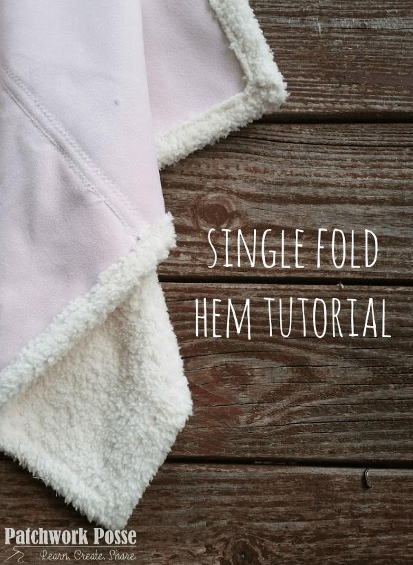 single fold hem and binding tutorial