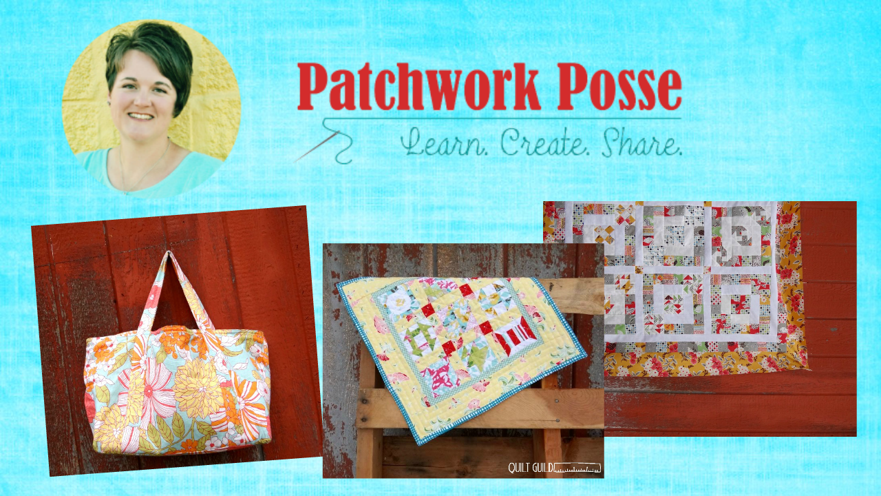 quilt video on youtube - subscribe to the patchwork posse youtube channel for quick quilt tips and hints! new videos every week!