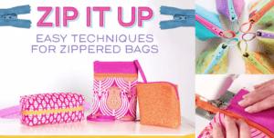 zipper pouch online sewing class
