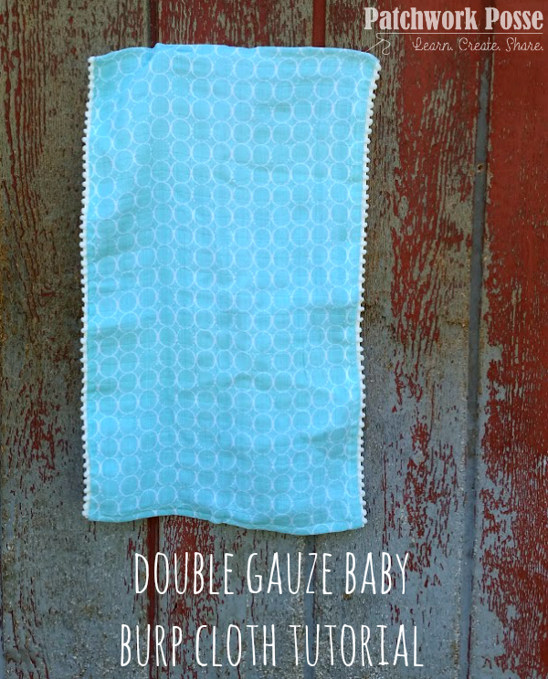 double gauze burp cloth tutorial with pom pom edges