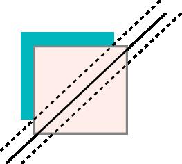 half square triangle blue