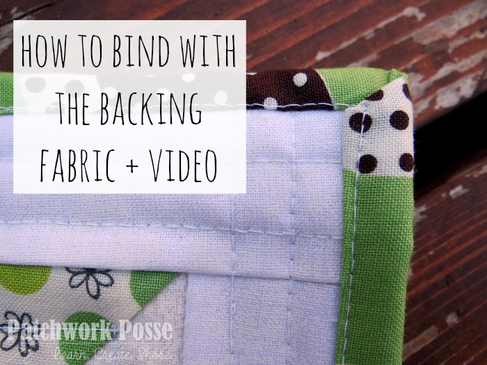 binding a quilt with the backing fabric is simple and quick. the video will show you how.