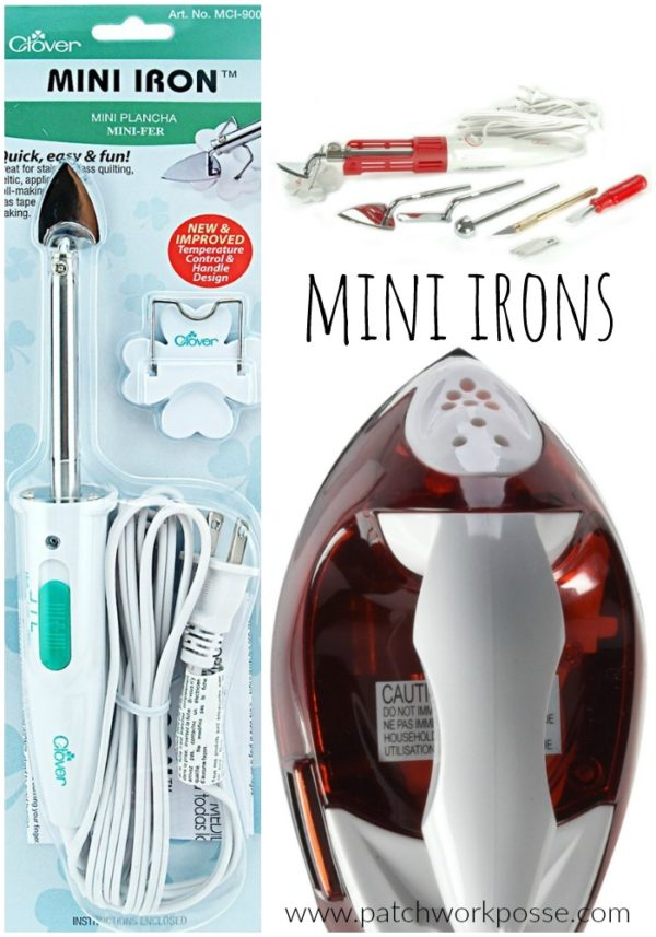 mini irons for quilting and applique there is a difference! Find the best one for your applique projects.
