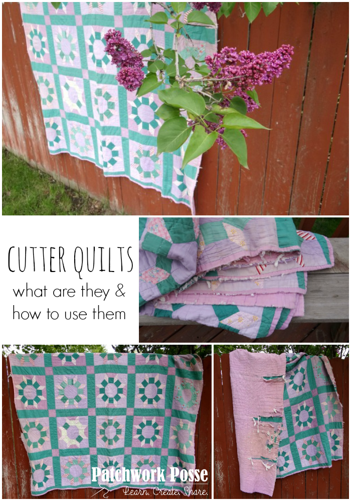 vintage quilts and cutter quilts how to use them and what they are