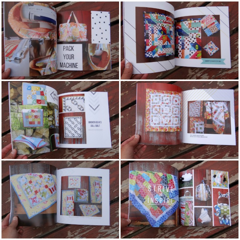 mix book collage for quilt journal