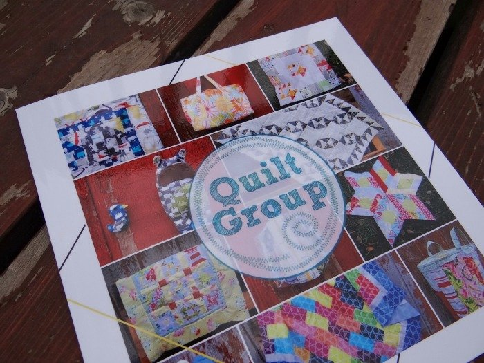 how to make a quilt journal with a book