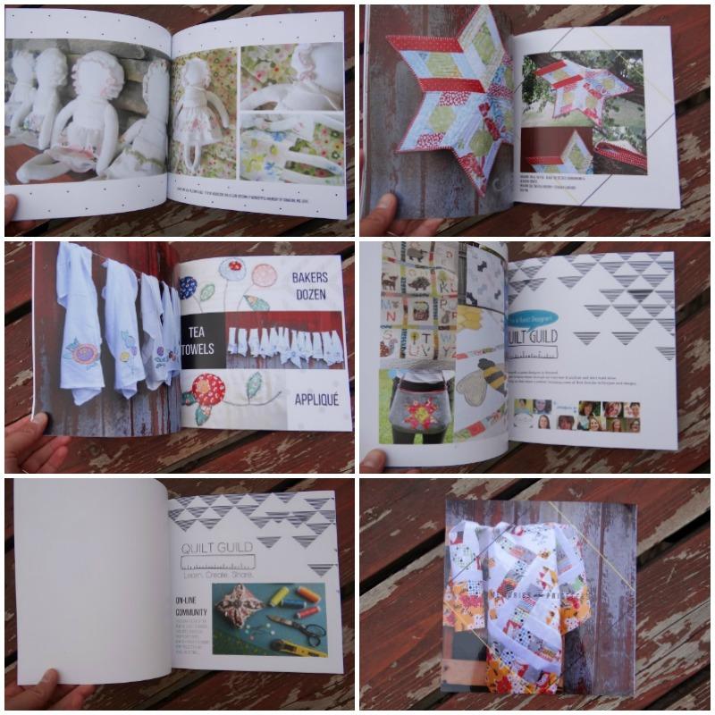 quilt journal collage