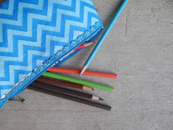 Lace Zipper Pencil Pouch with Felt Tutorial
