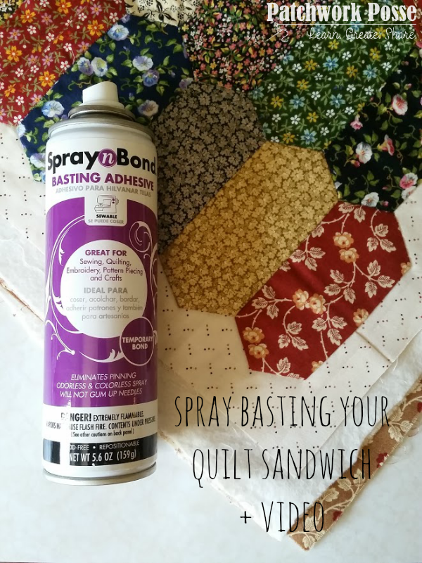 spray basting tutorial for machine quilting learn how plus a video to help