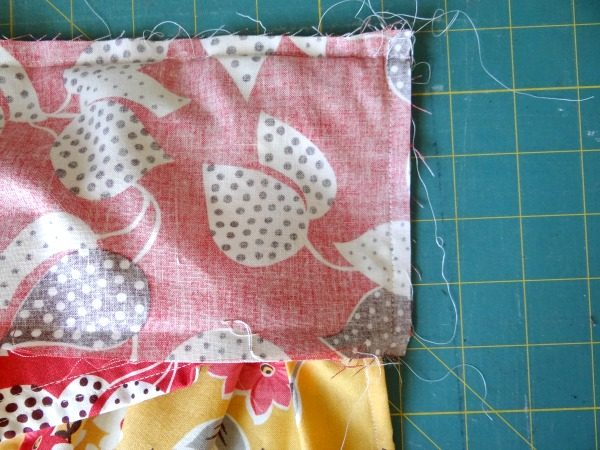 fold smock top and sew down sides