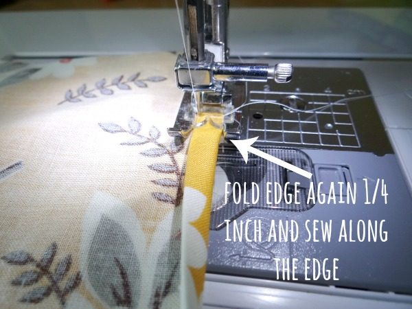 hemming the edge again