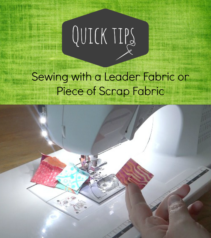 sewing with a leader fabric video tutorial