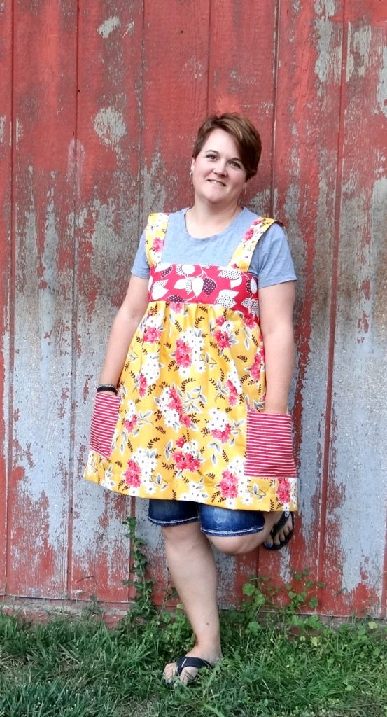 smock top apron with pockets tutorial