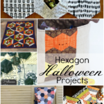 Hexagon Halloween Projects - super cute. Some sewn by hand, some by machine.