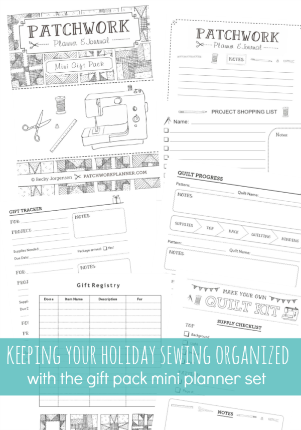 keeping track of your holiday sewing with the gift planner mini pack