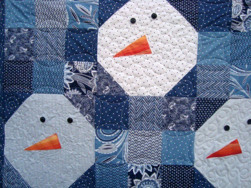 Free Snowman Quilt Pattern - : snowman quilt patterns applique - Adamdwight.com