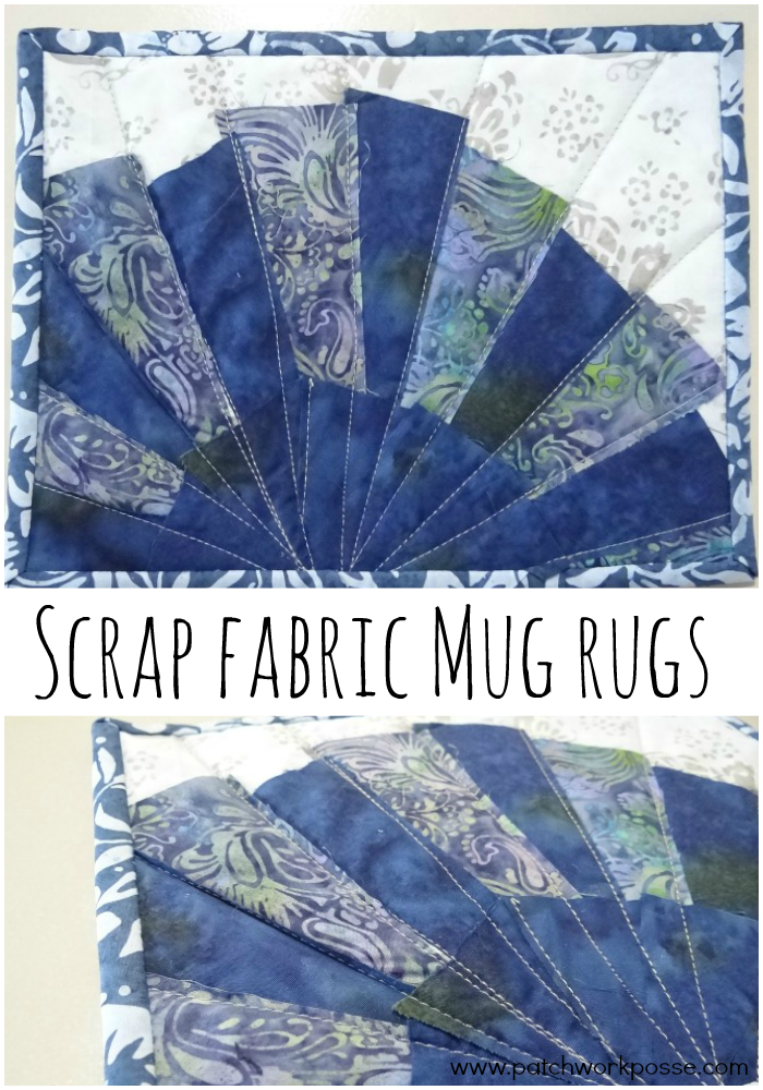 Scrap fabric mug rugs - this is so smart. I have a ton of scrap fabric that need to be used. Love the idea of using one color per mug rug.