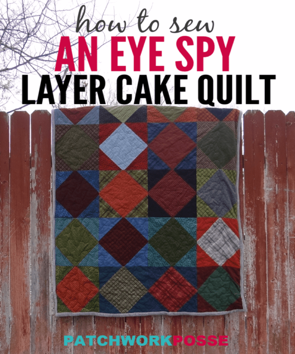 Square on point quilt block -finish a quilt using this block and a layer cake! Quick and simple , makes a great lap quilt.Could be used for an eye spy too!