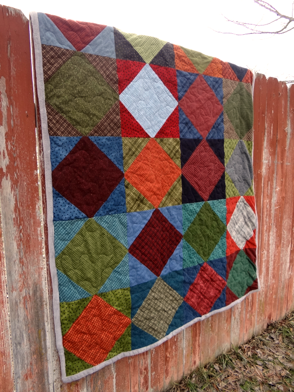 Square On Point Quilt Tutorial Cool Simple Square Quilt Patterns