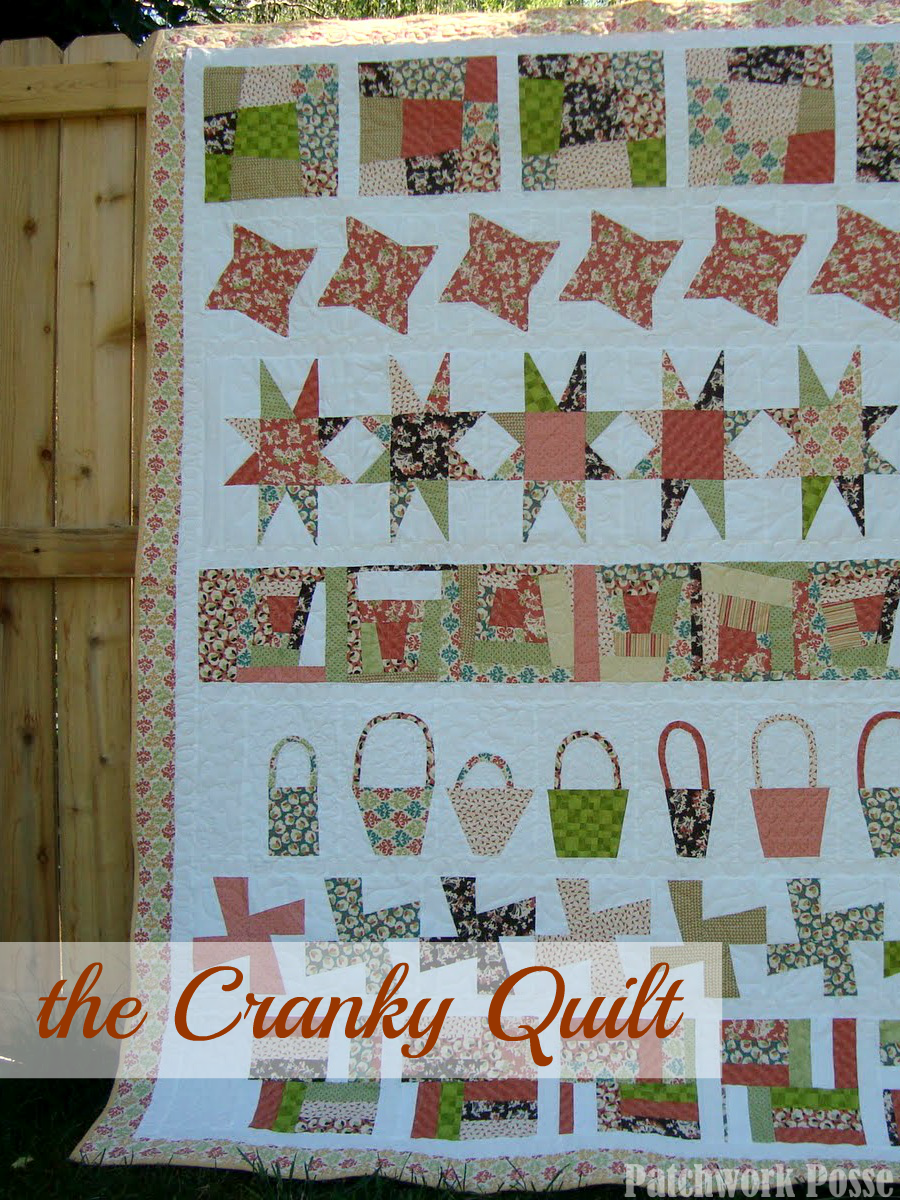 cranky quilt - free tutorial and download on patchworkposse.com it's not about perfection! I love the idea and the quilt.