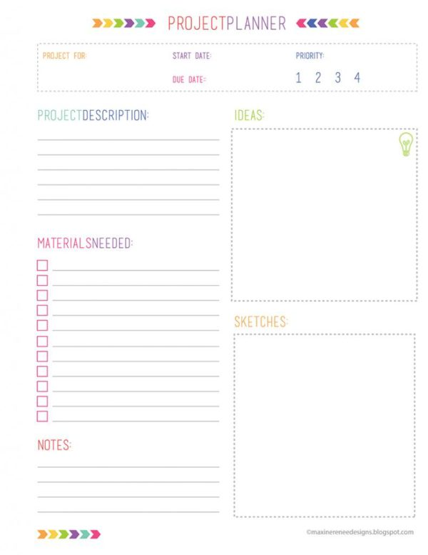 Crush image inside printable project planner
