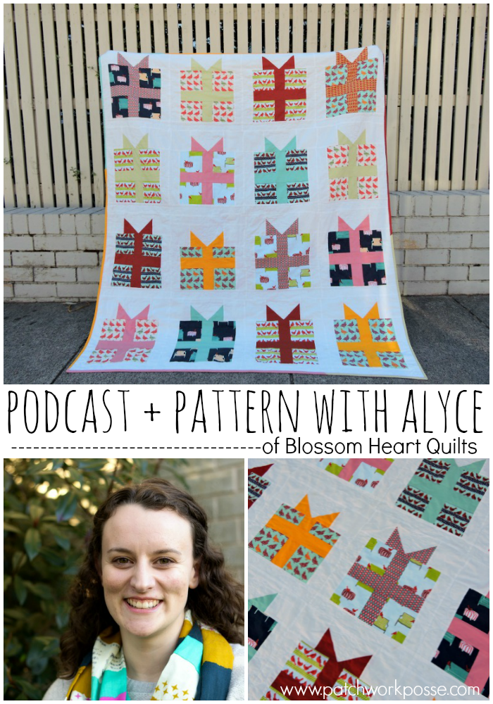 meet alyce from blossom heart quilts - podcast interview and look at her pattern rapt. she is so nice and her patterns are wonderful!