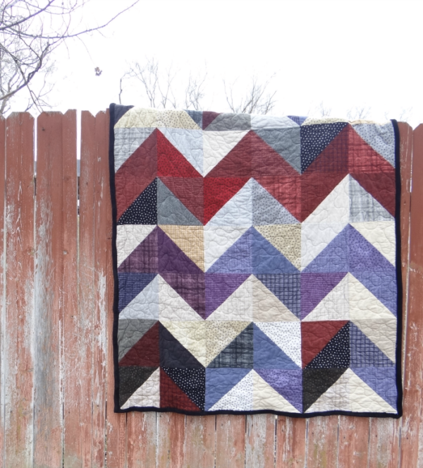 Chevron layer cake quilt tutorial - super cute! So simple too. Might need this for some quick quilts.