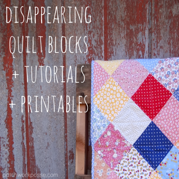 Disappearing 4 Patch Quilt Block Tutorial - : disappearing 4 patch quilt block - Adamdwight.com