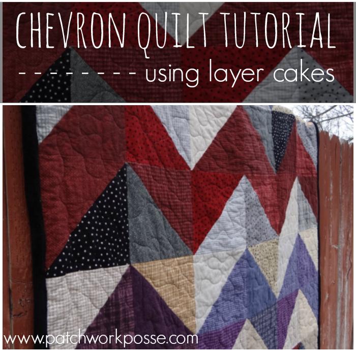 Layer Cake Quilt - Chevron Style Tutorial