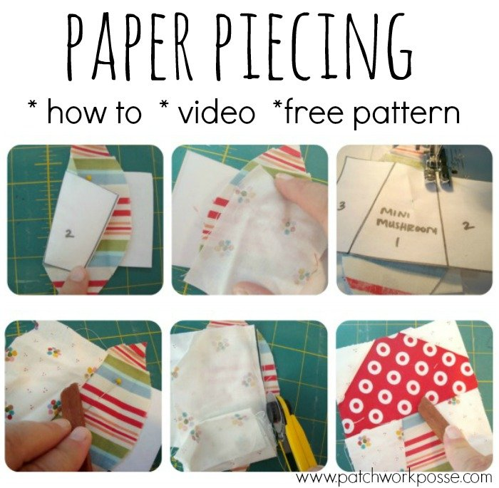 This paper piecing tutorial with video will walk you through the paper piece technique. You'll get great results using this technique! Simple to do once you understand.