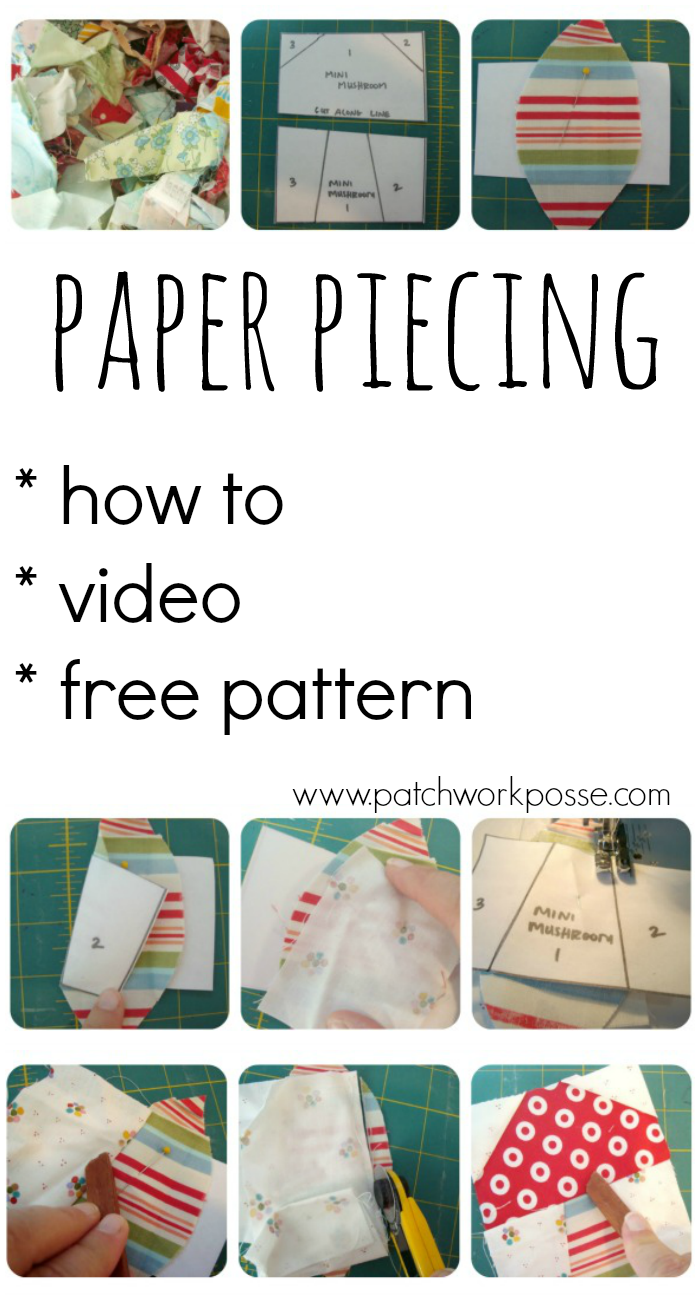 This paper piecing tutorial with video will walk you through the paper piece technique. You'll get great results using this technique! Simple to do once you understand. #sewing #quilting #paperpiece