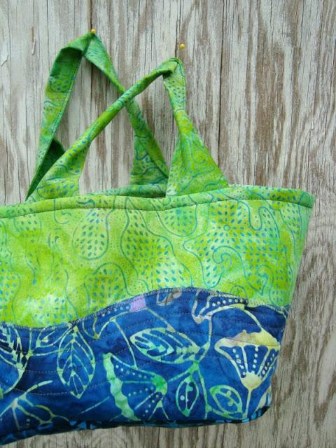 Homemade sewn fabric bucket