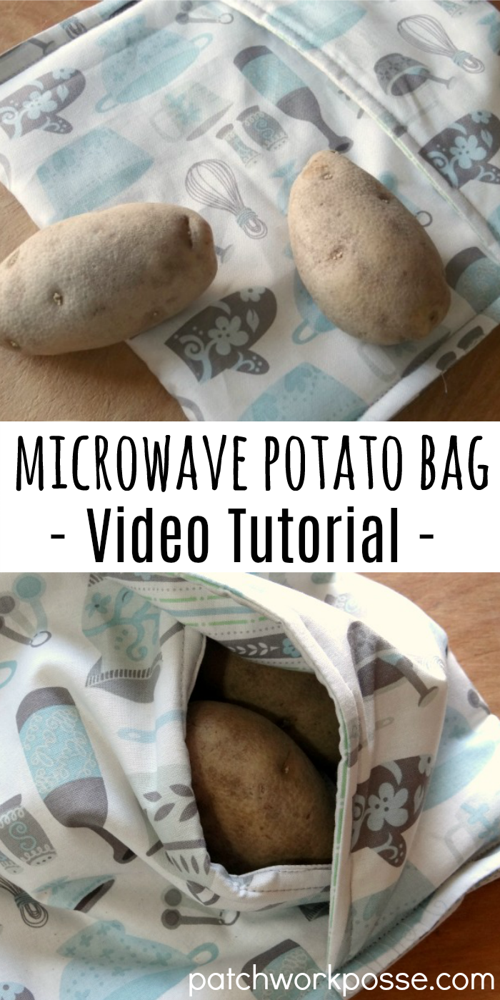 Learn how to make a microwave potato bag. Great for using and cooking potatos quick. Love this bag!