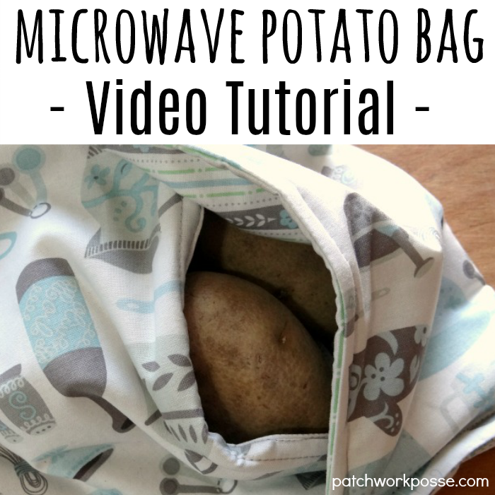 Microwave baked potato bag - video tutorial. Watch while you sew. This is so simple and a great project...plus I love baked potatoes!