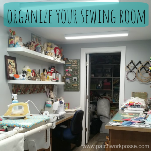 Learn how to organize your sewing room so everything fits!