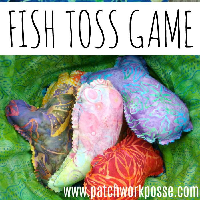 Homemade fish toss game
