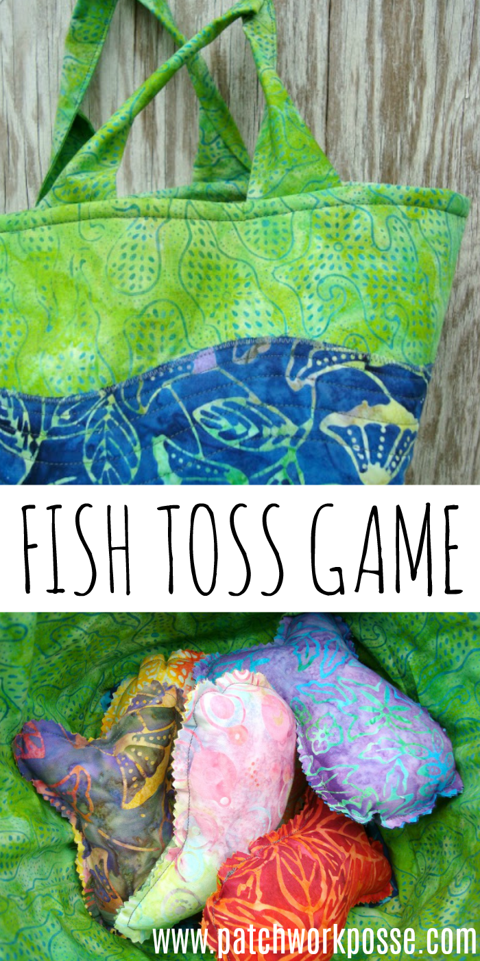 Summer of fun fish toss game! This in the instructions for the bag and the fish. Love them both! What a fun idea.