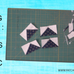 Learn how to sew 4 flying geese quilt blocks with 2 pieces of fabric!
