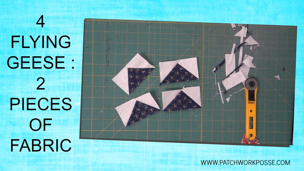 Flying Geese With 2 Pieces Of Fabric