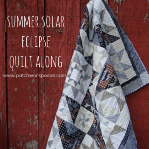 free quilt along- 2017 summer solar eclipse. fun play on dark and lights, lots of contrast!