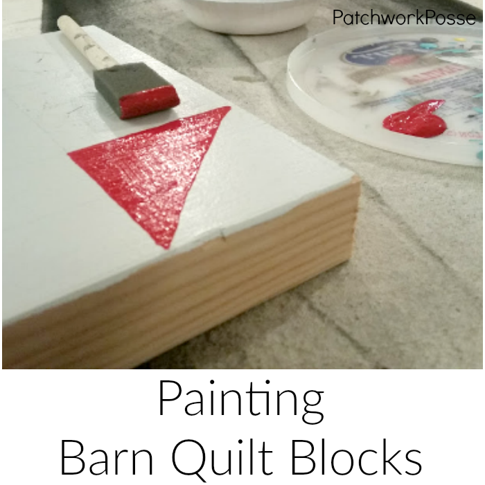 How to Paint Barn Quilt Blocks
