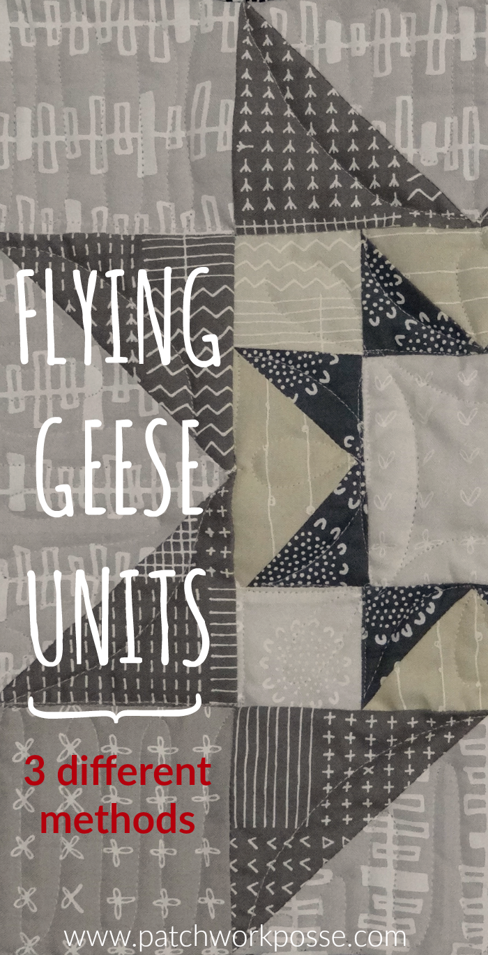 3 different ways to make flying geese quilt block units - video and images to help! the first one is my favorite method